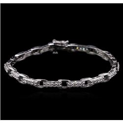 2.03 ctw Diamond Bracelet - 14KT White Gold