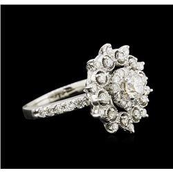 1.44 ctw Diamond Ring - 14KT White Gold