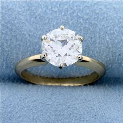 GIA Certified 2 ct Solitaire Diamond Engagement Ring in 14k Yellow Gold