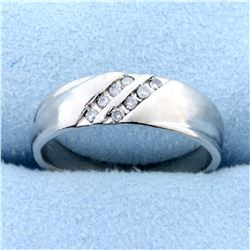 Diamond Wedding Band Ring in Platinum