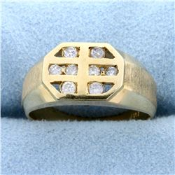 Contemporary 1/4 ct TW Diamond Ring in 14k Yellow Gold