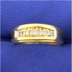 1/4ct TW Diamond Wedding or Anniversary Band Ring in 14k Yellow Gold