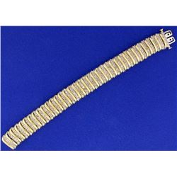 12ct Champagne Diamond Tennis Bracelet in 10k Yellow Gold