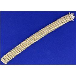 12ct Champagne Diamond Tennis Bracelet in 10k Yellow Gold