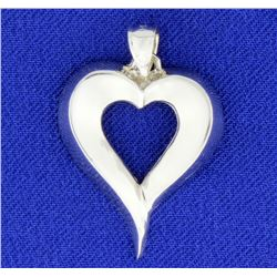 Heart Pendant in 14k White Gold