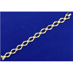 Italian Made 7 1/4 Inch Gold Bracelet in 14k Yellow Gold