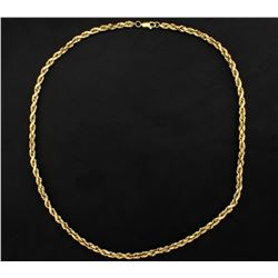 18 Inch Rope Neck Chain in 14k Yellow Gold