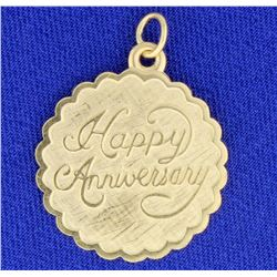 Anniversary Pendant in 14k Yellow Gold