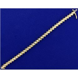5ct TW Diamond Tennis Bracelet in 14k Yellow Gold