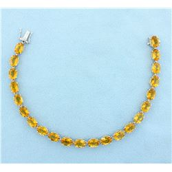 33ct Citrine Bracelet in 14k Yellow Gold