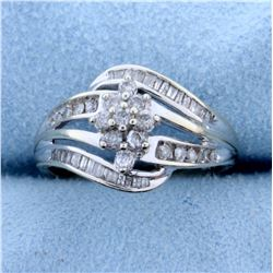 .6ct TW Diamond Ring in 10k White Gold