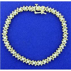 2ct TW Diamond Tennis Bracelet in 14k Yellow Gold