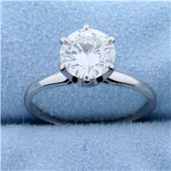 1.8ct Solitaire Diamond Engagement Ring in 18k White Gold