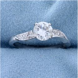 3/4 ct TW Diamond Engagement Ring in 14k White Gold