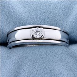 Men's 1/4ct Solitaire Diamond Ring in 14k White Gold