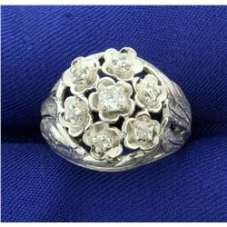 Antique Old European Cut .2ct TW Diamond Ring in 14k White Gold