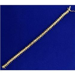 4ct TW Diamond Tennis Bracelet in 10k Yellow Gold