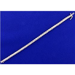 2ct TW Champagne Diamond Tennis Bracelet in 14k Yellow Gold