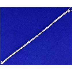 2ct TW Diamond Bracelet in 10k White Gold
