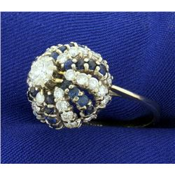 2 1/2ct TW Diamond and Sapphire Ring in 14k White Gol