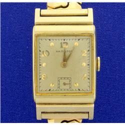 Vintage 14k Gold 1946 Hamilton Men's Wrist Watch