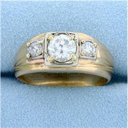 1.3ct TW Men's Diamond Ring in 14k Yellow Gold