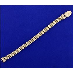 Panther Link Bracelet in 14K Yellow Gold