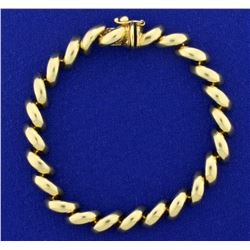 7 1/4 Inch San Marco Link Bracelet in 14k Yellow Gold