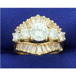 2.75 Carat TW Diamond Engagement Ring in 14k Yellow Gold