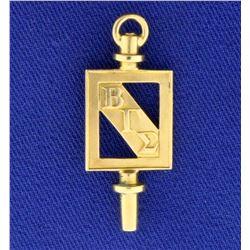 Beta Gamma Sigma Charm or Pendant in 10k Yellow Gold