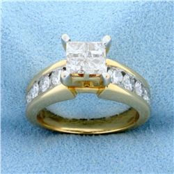 2ct TW Diamond Engagement Ring in 14k Yellow Gold