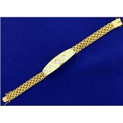 Custom Made Designer 3ct TW Diamond Bracelet in 18k Yellow Gold