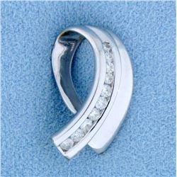 1/4 Ct TW Diamond Slide or Pendant in 14k White Gold