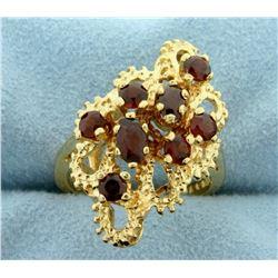 Vintage Garnet Ring in 14k Yellow Gold