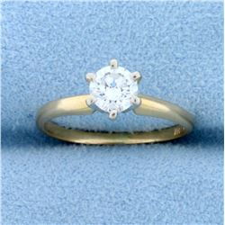 .45ct Solitaire Diamond Engagement Ring in 14k Yellow Gold
