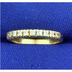 Diamond Wedding or Anniversary Band Ring in 14k Yellow Gold