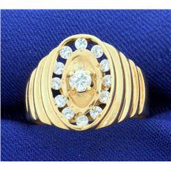 Designer 1/2ct TW Diamond Ring in 14k Yellow Gold