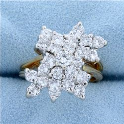 2ct TW Diamond Statement Ring in 14k Yellow Gold
