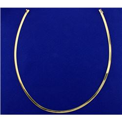 16 Inch Omega Necklace in 14k Yellow Gold