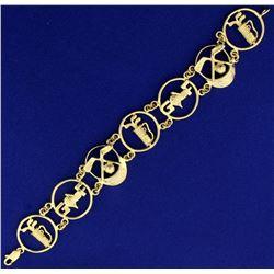 Custom Designed Golf Bracelet in 14k Gold
