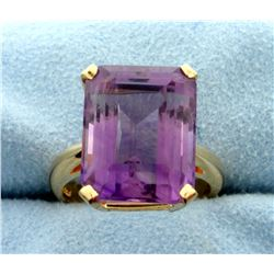 12ct Amethyst Statement Ring in 14k Yellow Gold