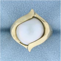 Mabe Pearl Ring in 14k Yellow Gold