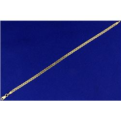 7 1/2 Inch Italian Made Mariner or Anchor Link Bracelet in 14k Gold