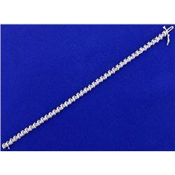 1/2ct TW Diamond Tennis Bracelet in 14k White Gold