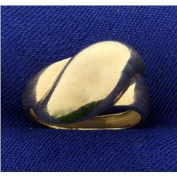 Gold Modern Style Designer Ring in 14K Yellow Gold