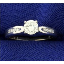 1/2 ct Tw Diamond Engagement Ring in 14K White Gold