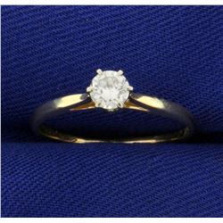 .3ct Solitaire Diamond Engagement Ring in 14K Yellow Gold