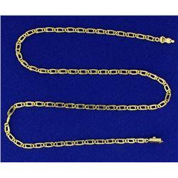 Designer Link 16 1/2 Inch Neck Chain in 18K Yellow Gold