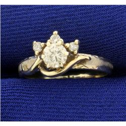 1/3ct TW Vintage Diamond Ring in 14K White Gold