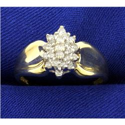 Diamond Cluster Ring in 10K Yellow Gold